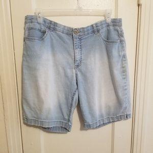 Vtg faded glory denim shorts 18W